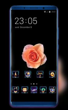 Theme for beautiful champagne rose wallpaper poster