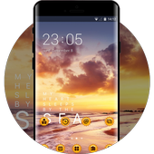 Theme for Micromax: Sunset Live wallpaper icon