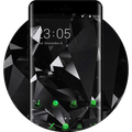 Cool Black Launcher Neon Green Upcoming Tech Theme