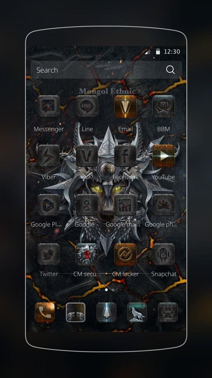 Black Wolf Theme Red Eyes For Android Apk Download