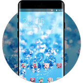 Crystal theme ice drops glitter wallpaper icon