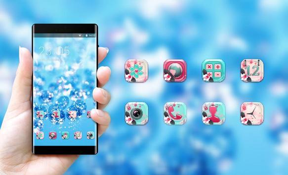 Crystal theme ice drops glitter wallpaper screenshot 3