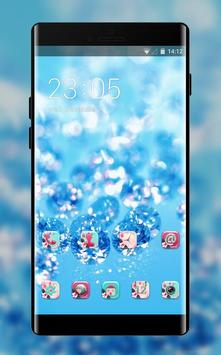 Crystal theme ice drops glitter wallpaper poster