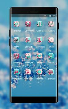 Crystal theme ice drops glitter wallpaper screenshot 1