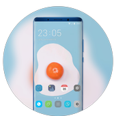 Theme for bright like egg cute wallpaper icon