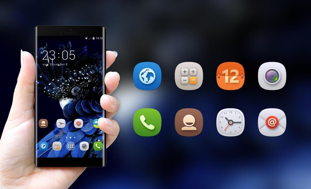 Elegant Blue ColorOS Launcher Theme for OPPO for Android - APK Download