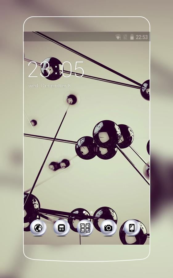 Space Ball Abstract Wallpaper Theme for F3 Plus poster