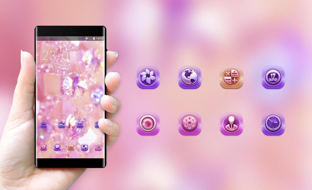 Theme For Gradient Pink Diamond Wallpaper For Android Apk Download