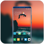 Theme for dusk man jumping water wallpaper icon