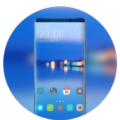 Theme for Huawei Honor note10 clean blue wallpaper icon