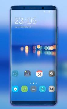 Theme for Huawei Honor note10 clean blue wallpaper poster