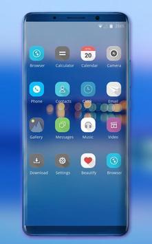 Theme for Huawei Honor note10 clean blue wallpaper screenshot 1