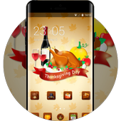 Thanksgiving day theme festival holiday wallpaper icon
