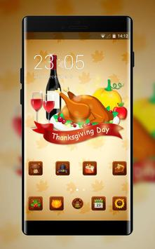 Thanksgiving day theme festival holiday wallpaper poster