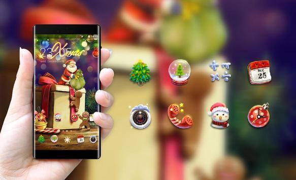 Holiday theme xmas gift cartoon wallpaper HD screenshot 3