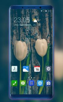 Theme for Honor 8X natural flowers feel wallpaper poster