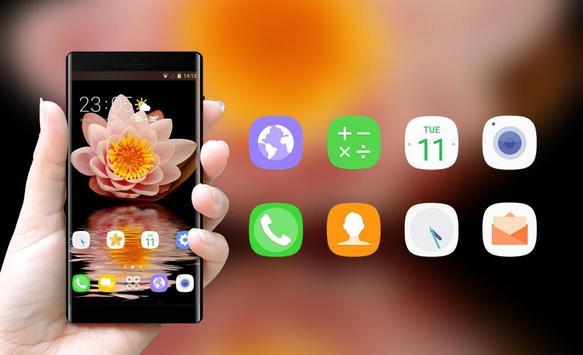 Theme for Xiao Mi Band 3 flowers water hope screenshot 3