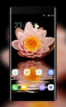 Theme for Xiao Mi Band 3 flowers water hope poster