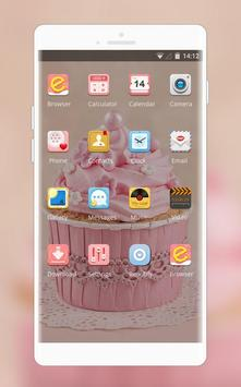 Theme for motorola moto g6 cute pink cupcake for Android - APK Download