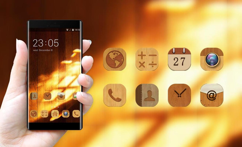 Wood Theme For Samsung On Nxt Wallpaper Screenshot 3