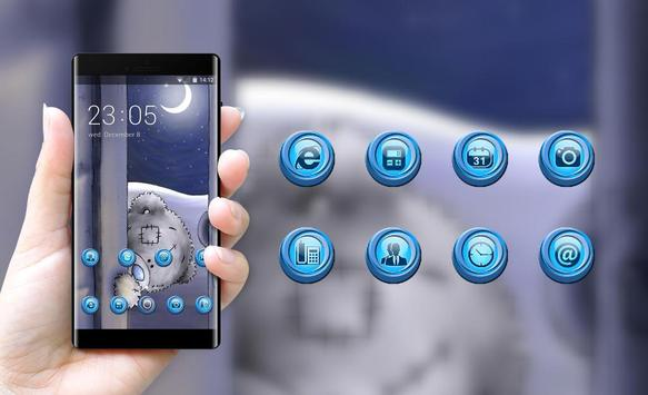 Emotion theme wallpaper teddy bear look door apk screenshot