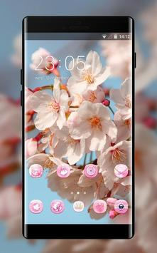 Spring theme blossom branch sky wallpaper poster