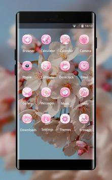 Spring theme blossom branch sky wallpaper screenshot 1