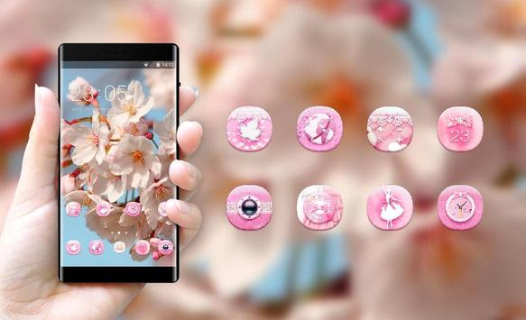 Spring theme blossom branch sky wallpaper Screenshot 3