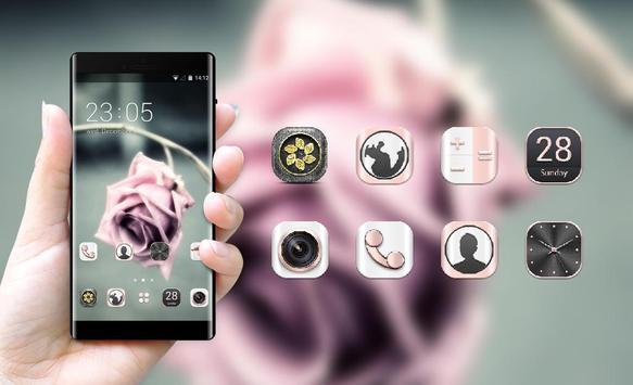 Emotion theme wallpaper flower shadow rose branch apk screenshot