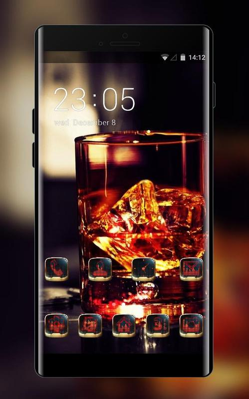 Emotion Theme Glass Whiskey Ice Cigar Wallpaper Poster