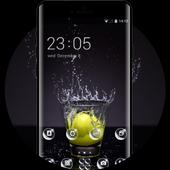 Emotion theme wallpaper lemon glass water spray icon