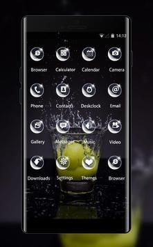 Emotion theme wallpaper lemon glass water spray apk screenshot