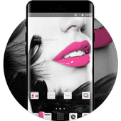 Girly face theme for Alcatel U5 HD Lips wallpaper icon