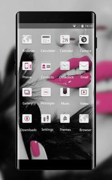 Girly face theme for Alcatel U5 HD Lips wallpaper screenshot 1