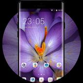 Purple theme for LG Q6 macro flower wallpaper icon