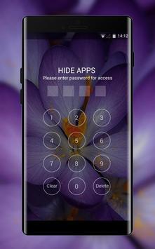Purple theme for LG Q6 macro flower wallpaper screenshot 2