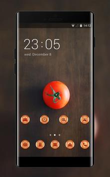 tomato theme minimalism wallpaper for galaxy phone poster