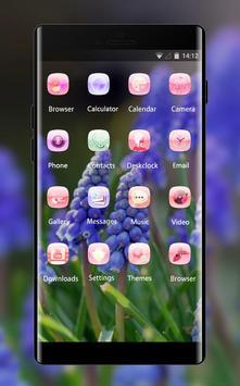Emotion theme wallpaper muscari flowers leaves screenshot 1