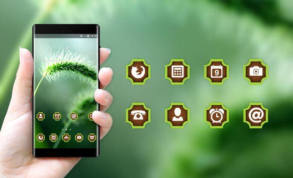Emotion theme wallpaper plant grass motion blur apk screenshot