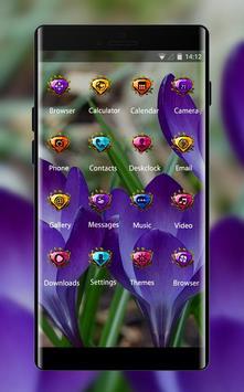 Emotion theme wallpaper purple green flowers apk screenshot
