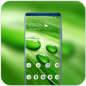 Theme for Nokia X Phone Mi 8 Pro green water drop icon