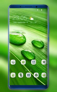 Theme for Nokia X Phone Mi 8 Pro green water drop poster