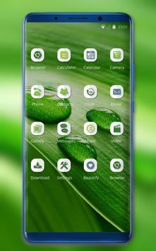 Theme for Nokia X Phone Mi 8 Pro green water drop screenshot 1
