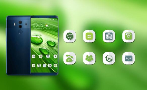 Theme for Nokia X Phone Mi 8 Pro green water drop screenshot 3