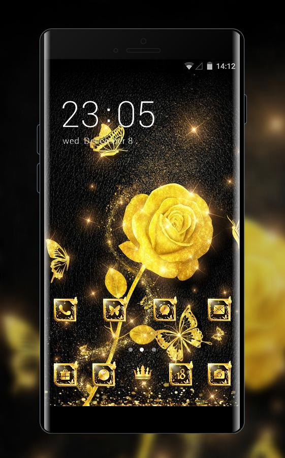 Luxury theme fantasy golden flower wallpaper for Android - APK Download