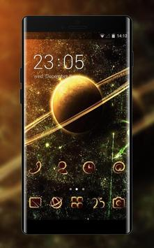 Galaxy theme for VIVO Y66 planet space wallpaper poster