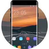 Theme for quiet road sunset asus zenfone max icon