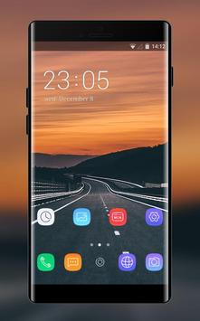 Theme for quiet road sunset asus zenfone max poster