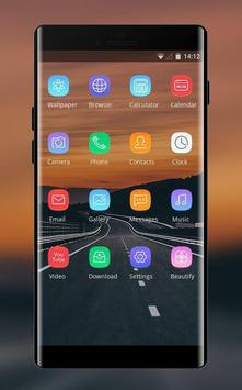Theme for quiet road sunset asus zenfone max screenshot 1