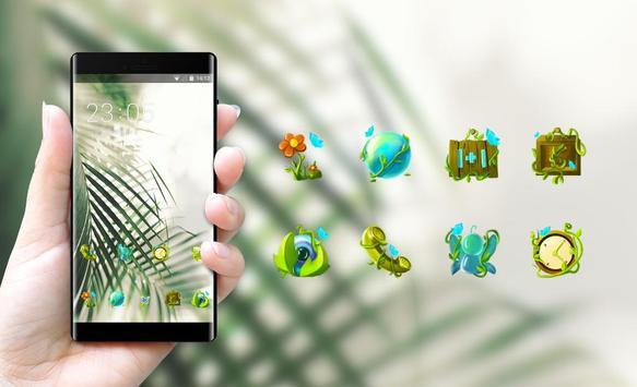 Fresh green plants theme screenshot 3